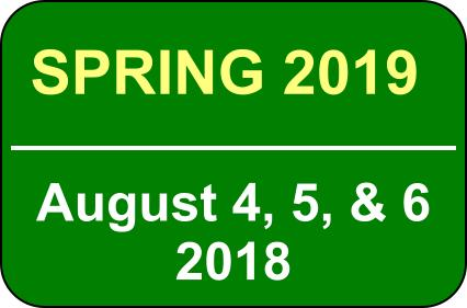 SPRING CLOTHING DATES